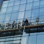 100m – 300m suspended access platforms 220v for high rise building painting