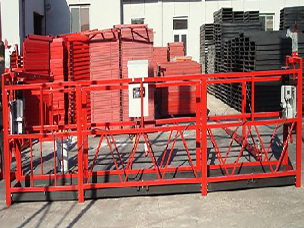 Building Cleaning Suspended Working Platform Zlp800 With 800kg Rated Load
