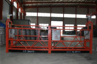aluminium alloy / steel / hot galvanized suspended access equipment zlp630