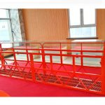 steel suspended access platforms 7.5m 1.8kw 800kg building maintenance