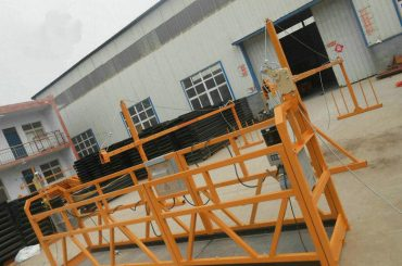 zlp series steel or alumium suspended rope platform