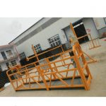 reliable zlp630 painting steel suspended working platform for building construction