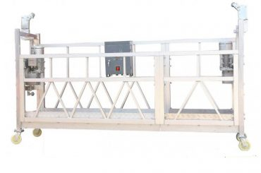 steel painted / hot galvanized / aluminum zlp630 suspended working platform for building facade painting