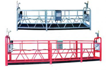 zlp 630 rope suspended platform aerial work swing stage scaffold with plastic spray painted