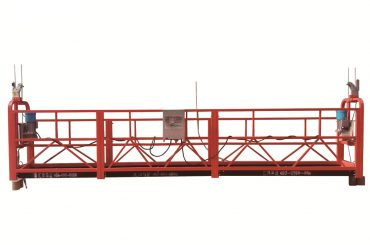 steel / hot galvanized temporary suspended platform , zlp500 maintenance cradle