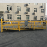 ce certified zlp630 aluminium electric hanging gondola for construction