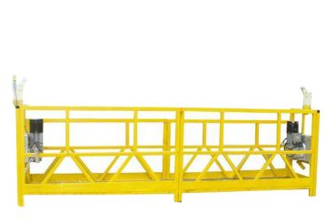 steel / aluminum suspended platform cradle , 630kg suspended access equipment