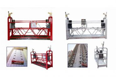rope hanging suspended access platform, zlp630 construction lift gondola machine